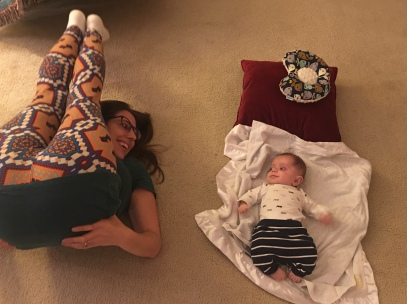 Good mama pants and the floor time