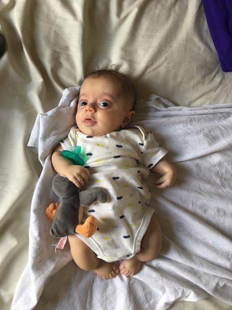 Wubba Nub and infant