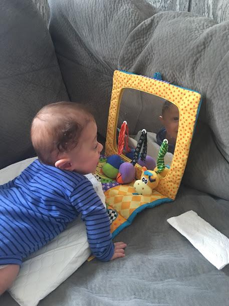 Babies love mirrors!