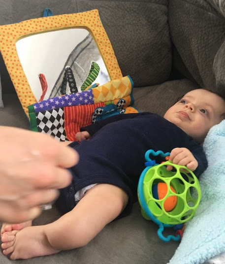 Oball Jingle and Shake toy is great for babies!