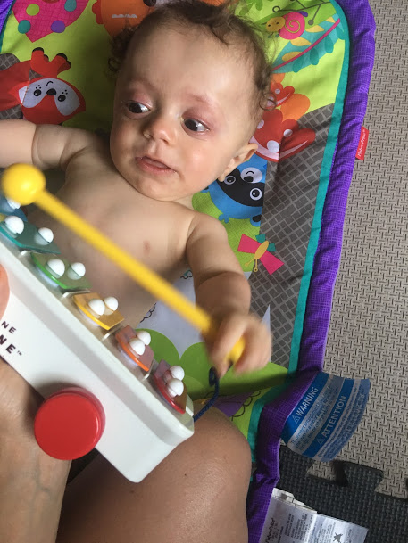 Musical instruments are great for babies!