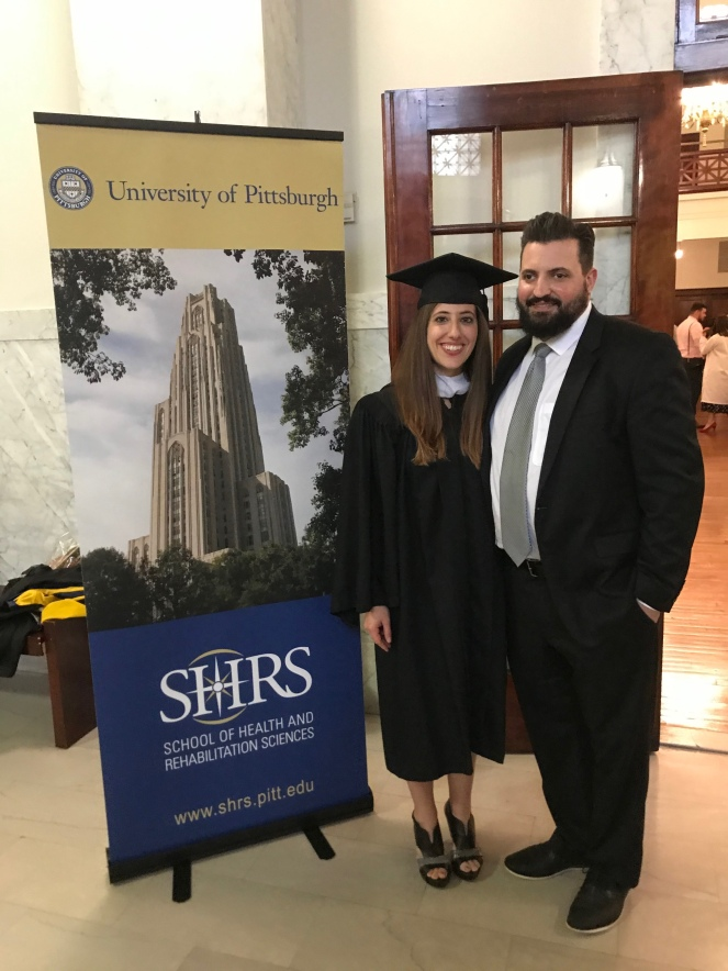 University of Pittsburgh Health and Rehabilitation Sciences Recognition Day Ceremony Nikki and Sean Watson